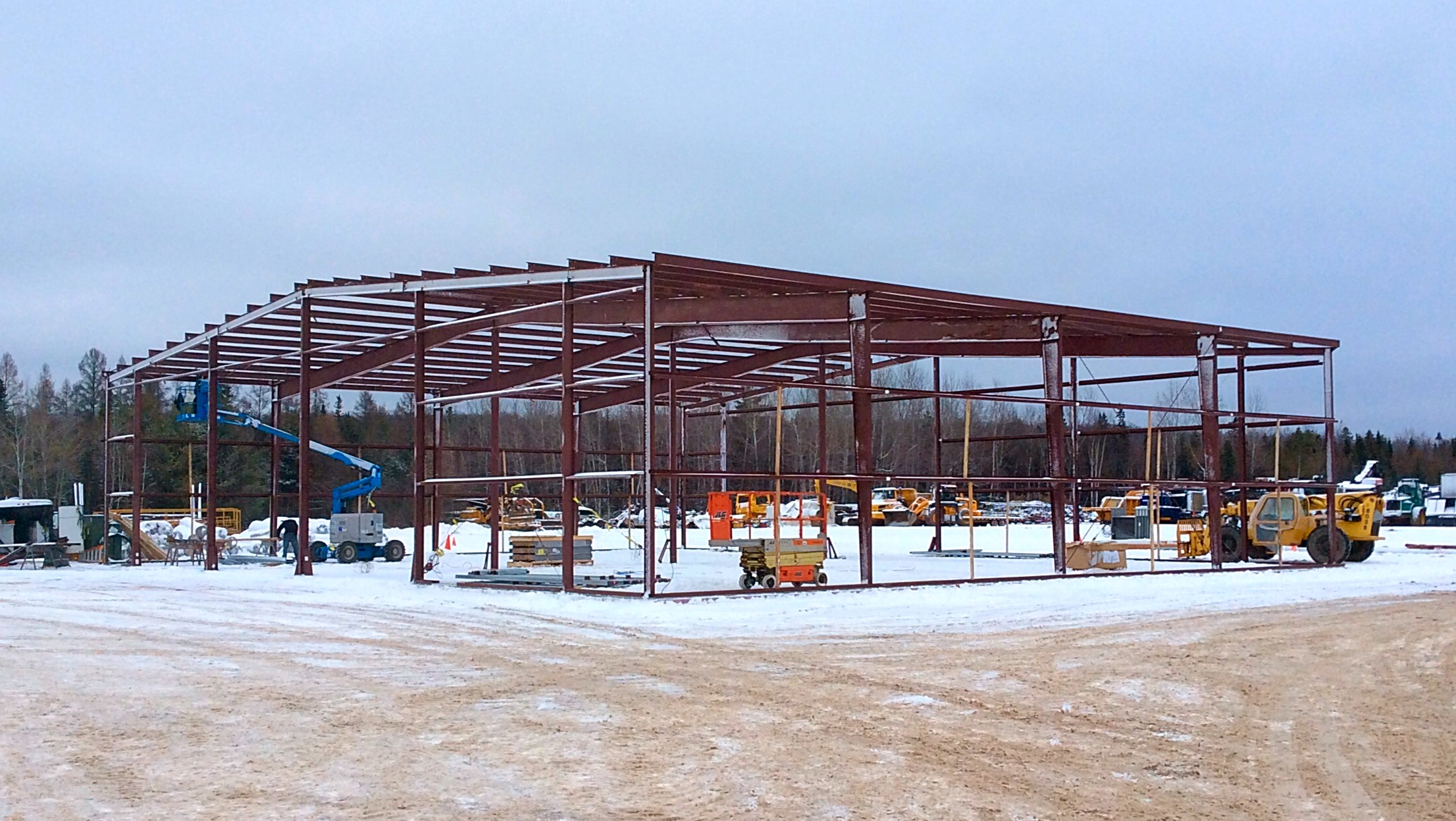 winter contruction - metal building